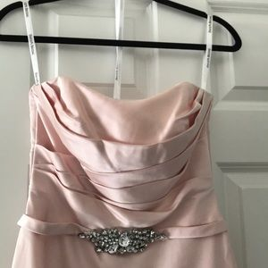 NWT Size 2 gown in petal pink satin